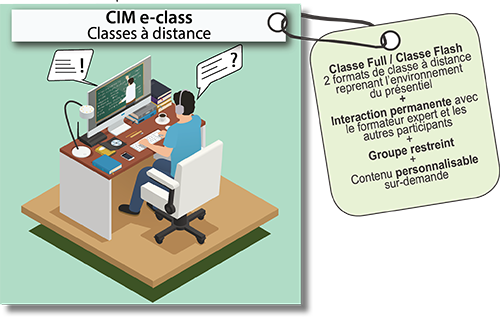 CIM e-class : Classes à distance