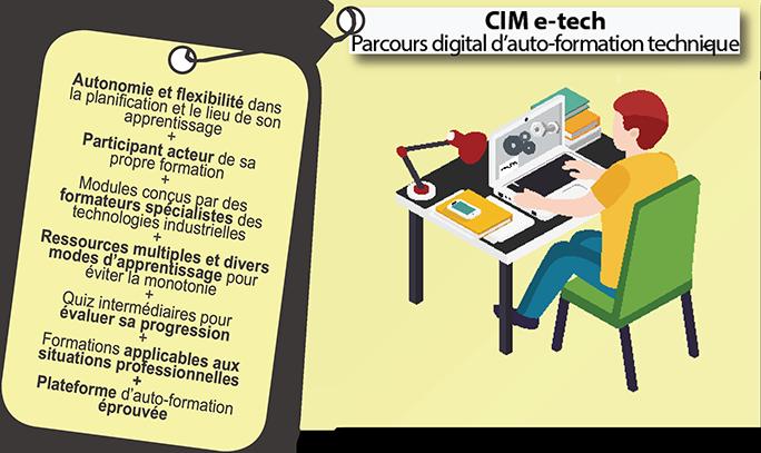 CIM e-tech : Parcours digital d'auto-formation technique