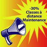 Ouverture garantie pour nos classes à distance Maintenance et -30% sur la 2ème inscription